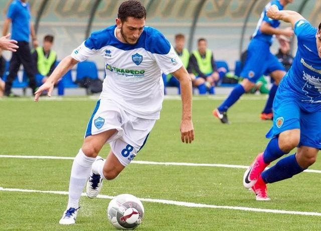 Il centrocampista Francesco Salandria, foto: Simona Amato