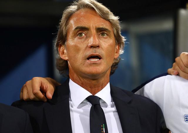 Il ct Roberto Mancini in panchina, foto: Figc.it