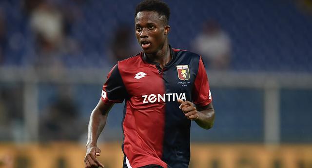 L'attaccante Kouame del Genoa, foto: Fonte Web