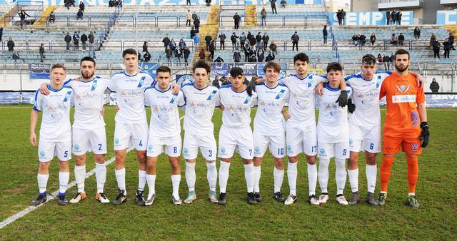 L'undici biancoazzurro, foto: Sandro Veglia