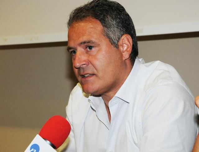 Il tecnico Eduardo Imbimbo in conferenza stampa, foto: Sandro Veglia