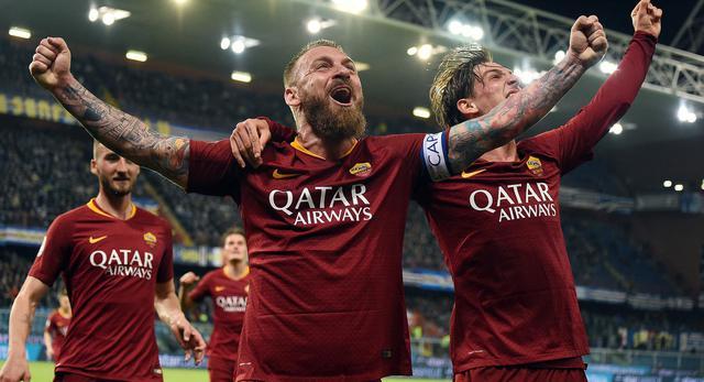 L'esultanza della Roma, foto: SportMediaset.it