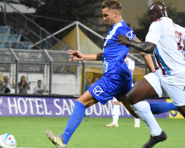 L'attaccante Michele Scaringella, foto: Sandro Veglia