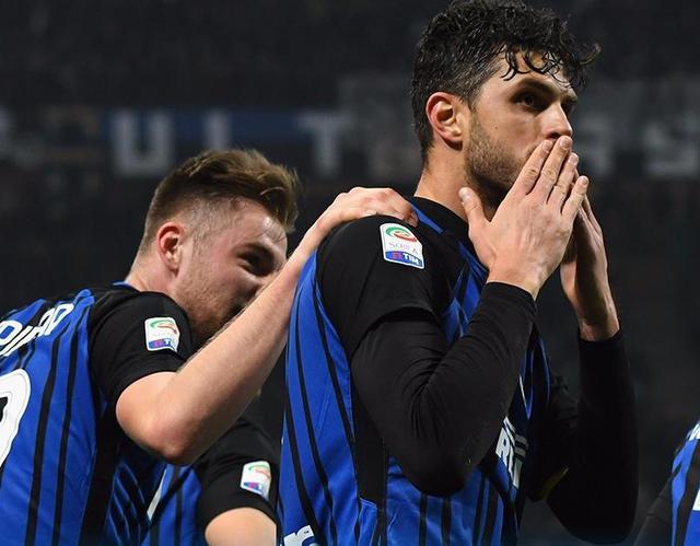 L'esultanza di Ranocchia, foto: Inter.it