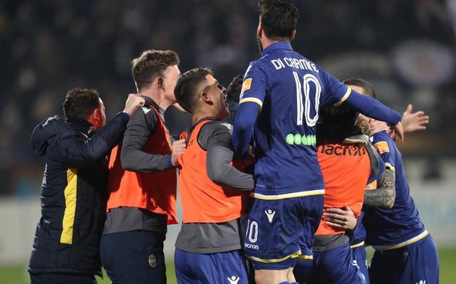 L'esultanza dell'Hellas Verona, foto: Fonte Web
