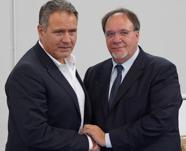 Il tecnico Imbimbo e il presidente Lamberti, foto: TuttoMatera.com