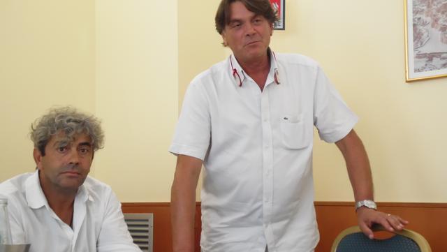 Il tecnico Camerino e il team manager Mastrolilli, FOTO: TUTTOMATERA.COM