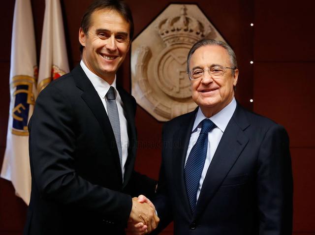 Lopetegui e Perez nella sala dei trofei del Real Madrid, foto: Fonte Web