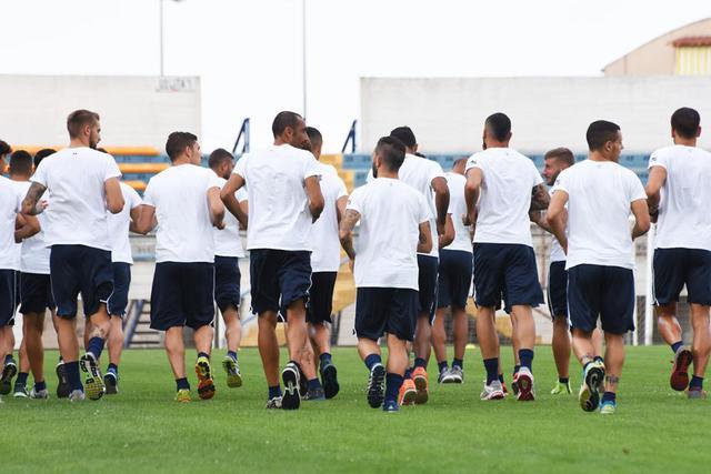 Una fase dell'allenamento dei biancoazzurri, foto: Fonte Web