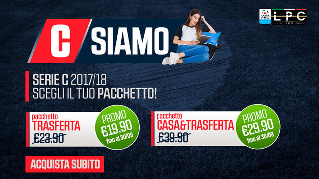 Slide presentazione pacchetti Serie C, foto: Sportube.tv