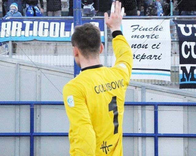 Il saluto del portiere Adnan Golubovic, foto: Sandro Veglia