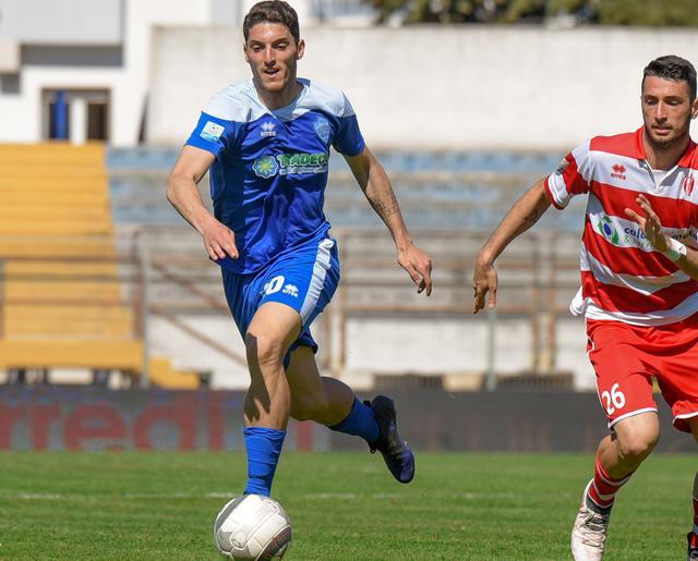 Il centrocampista Giuseppe Maimone in azione, foto: Emanuele Taccardi
