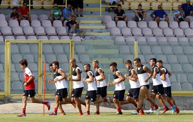Una fase di allenamento, foto: Catanzaro Calcio