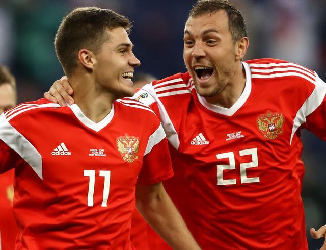L'esultanza della Russia dopo il secondo gol, foto: Fifa.com