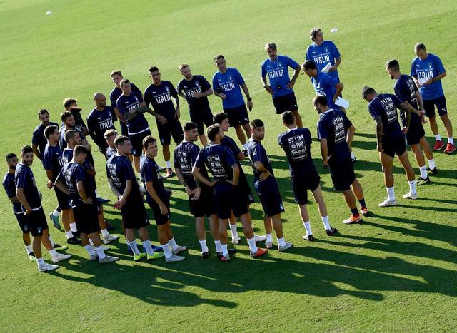 Prima dell'inizio dell'allenamento degli azzurri, foto: Figc.it