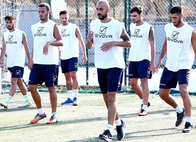 Una fase dell'allenamento dei biancoazzurri, foto: Sandro Veglia