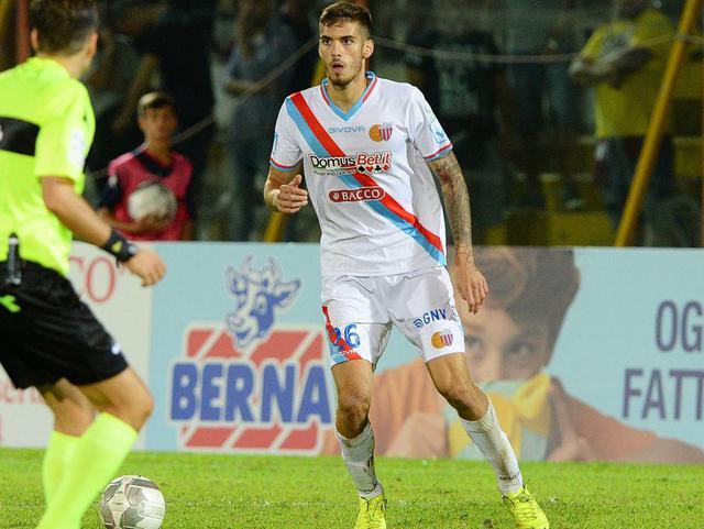 Il difensore Bogdan del Catania, foto: Fonte Web