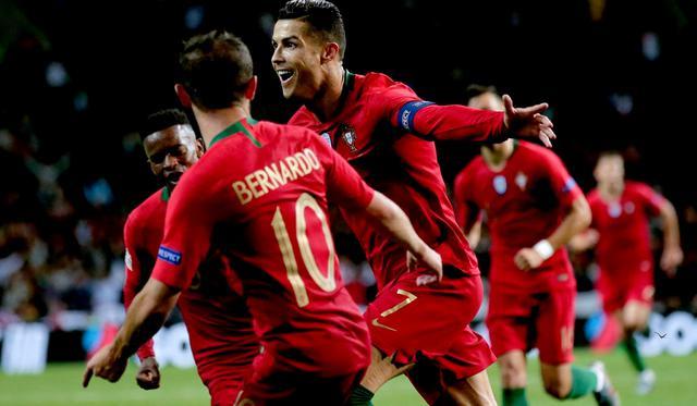 L'esultanza di Cristiano Ronaldo, FOTO: UEFA.COM