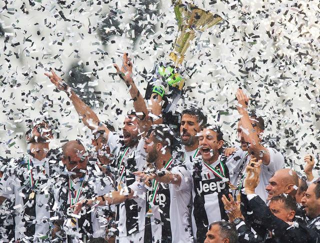 La Juventus festeggia il settimo scudetto consecutivo, foto: Fonte Web
