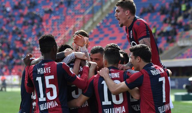 L'esultanza del Bologna, foto: Fonte Web