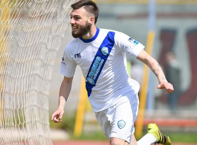 L'attaccante Getano Dammacco, foto: Giuseppe Scialla