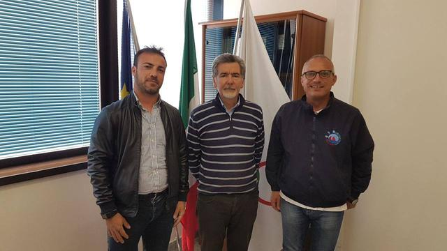 da sinistra Giuseppe Fiusco, Michelangelo Giusti e Vincenzo Marasco