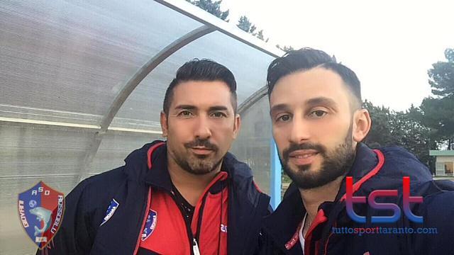 Il prepatore atletico Scognamiglio (a sinistra) col tecnico Adduci