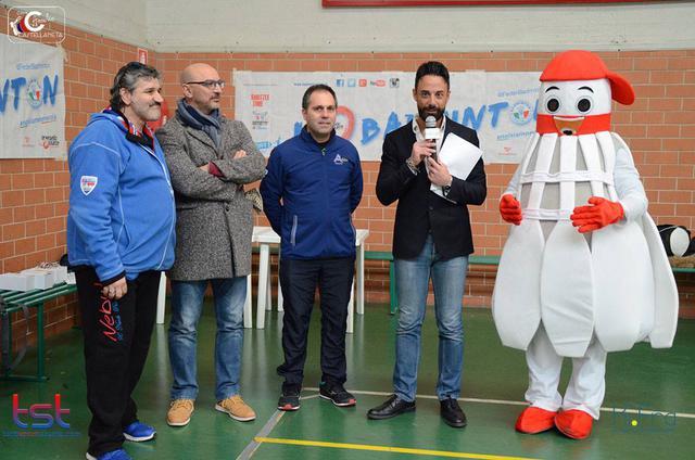 Un momento del secondo Gran Prix Città di Ginosa, grande manifestazione nazionale di badminton