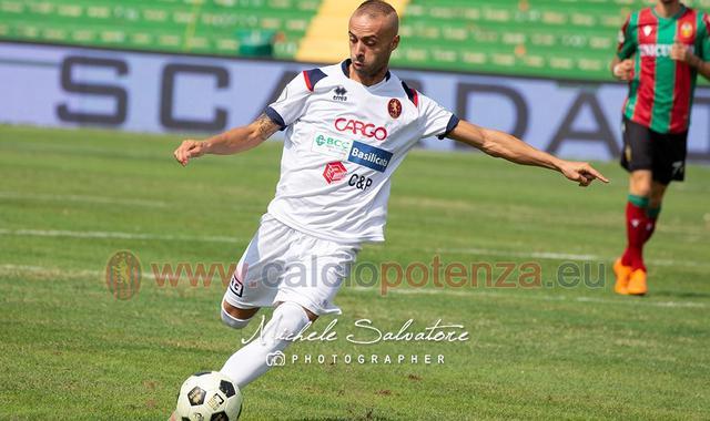 L'attaccante Antonino Isgrò, FOTO: CALCIOPOTENZA.EU