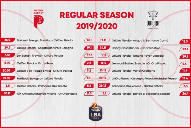 Lega Basket Calendario.Il Calendario Della Stagione 2019 20 Della Oriora As