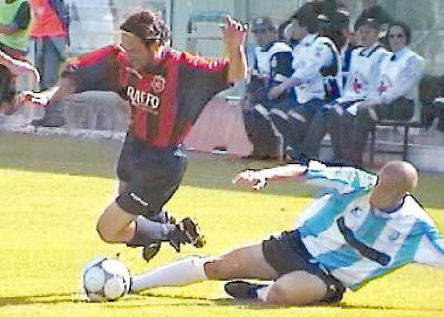 Puglisi in azione nellultimo Taranto-Fasano del 2001