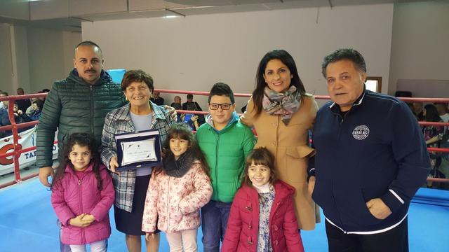 Vincenzo Quero con la famiglia Chiloiro
