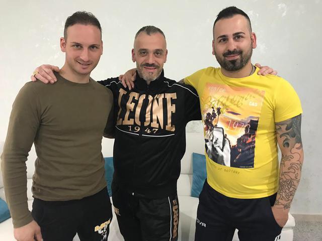 Da sinistra: Cristian Morrone, il presidente Giuseppe Acquaviva e Giuseppe Morrone
