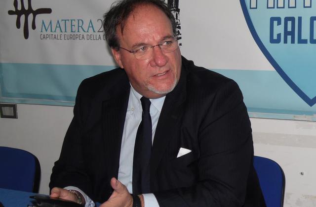 Rosario Lamberti, presidente del Matera - Foto Tuttomatera.com