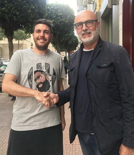 Gianluca Salerno con il diesse Vito Appeso