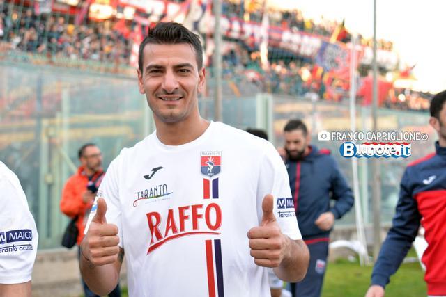 Antonio Croce, attaccante del Taranto: un gol pesantissimo il suo...