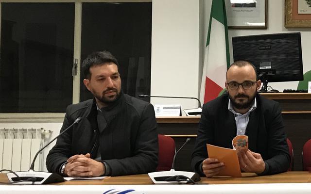 Da destra: Ciro D'Alò, sindaco di Grottaglie, e Vincenzo Quaranta, assessore allo sport