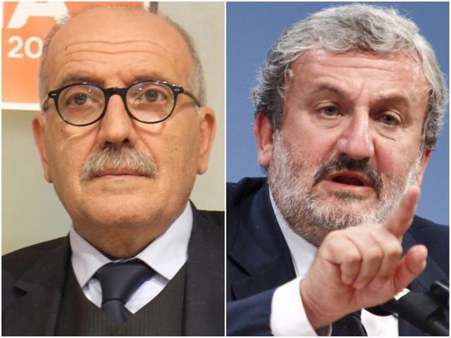 L'onorevole Ludovico Vico e Michele Emiliano, governatore della Regione Puglia