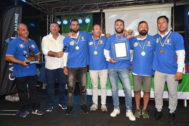 L'equipaggio 'A.S.D. Fishing club Grottaglie' capitanato da Cataldo Serio con il suo team formato da Antonio Serio, Gianluca Leo, Giuseppe De Rubertis e Mimmo Menga