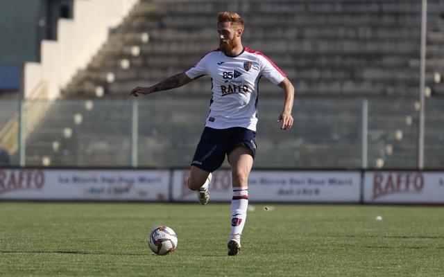 Daniele Rosania, ha messo a segno il primo gol con la maglia del Taranto  - Foto Franco Capriglione
