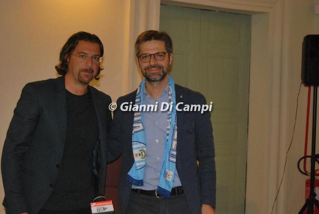 Il sindaco Antonello Denuzzo con il presidente della Virtus Francavilla, Antonio Magrì