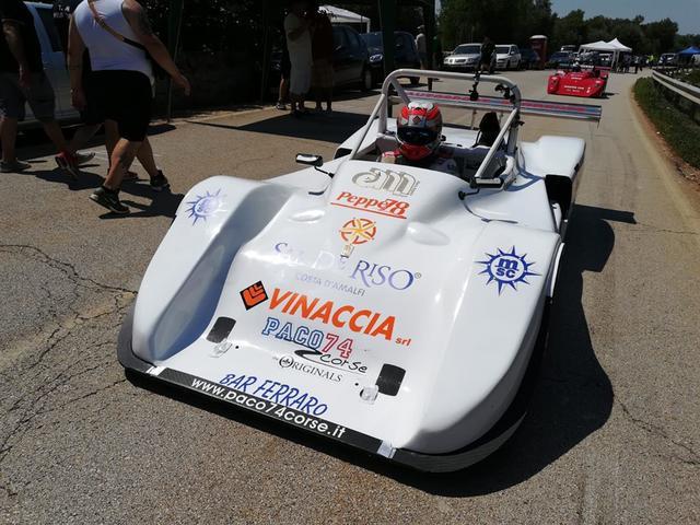 Luigi Vinacci al volante di una Osella PA 9/90 motorizzata Honda