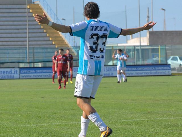 Giuseppe Madonia, qui non esulta dopo aver segnato un gol al Trapani