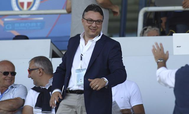 Massimo De Salvo, proprietario del Novara
