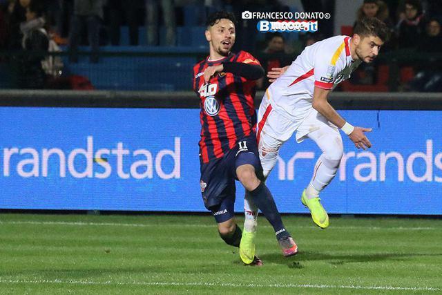 Tommaso D'Orazio, difensore del Cosenza e match winner nella sfida con il Venezia