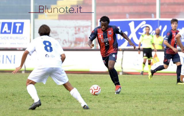 Kelvin Matute, centrocampista del Taranto, nella foto Franco Capriglione