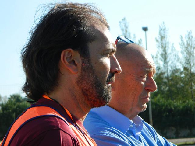 Antonio Marasco, allenatore dell'Aversa Normanna, molto contestato dai suoi tifosi