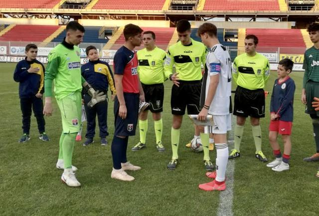 Taranto-Juventus 0-9: I due capitani prima del match - Foto Alessio Petralla