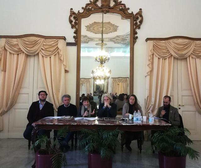 Una fase della conferenza stampa di presentazione del progetto
