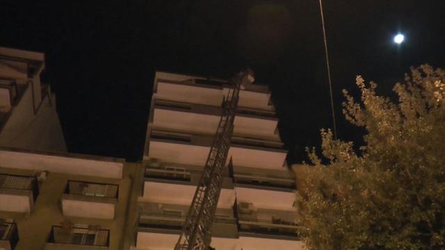 L'appartamento andato a fuoco in piazza Ramellini